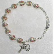 Clear Venetian Beads Bracelet