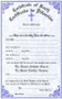 """BiLingual-Two Color Death Certificates. Certificates are available in English and Bilingual (Eng/Spanish) Each certificate measures: 6"""" x 9 1/4"""".  Imprinted Certificates are sold in pads of 50 certificates.  All Certificates are Printed on Acid-Free Paper for Long Life."""