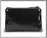 "3"" x 4"" Black Micro Metallic Mesh Rosary Case. Black Mesh rosary case has a zipper close and a with an anti tarnish lining. Rosary not included!"