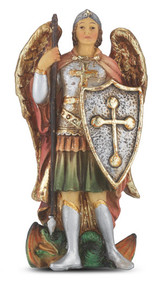 """This 4"""" statue is finely detailed and expertly sculpted by Barbara Tortolani, A New England artisan noted for exquisite life-like detail that she protrays in all her creations. They are crafted in cold cast resin and hand painted for fine detail resulting a a venerable gift to be always cherished!"""