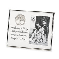 """7"""" Family Tree Frame. Tree of Life Family frame that holds a 4"""" x 6"""" picture. 7"""" Family Tree Photo Frame is  made of a resin/stone mix. """"The Blessing of Family is life's greatest Treasure, filling our Home with Laughter and Love."""""""