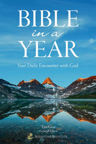 Bible in a Year-Your Daily Encounter with God  Only 20 Minutes a Day to Know the Power and Wonder of God's Word With Bible in a Year: Your Daily Encounter with God you can read through the entire Bible in a single year! Three daily readings, one each from the Old Testament, Wisdom Literature and the New Testament, keep you engaged as you make your way through the Bible. In addition, each of the daily readings is followed by a short, insightful reflection that will lead you to prayer and help plant God's Word deep in your heart.  Bible-in-a-Year is designed to give you daily selections from the Old Testament, New Testament, and Wisdom Literature to help you read and pray all 73 books of Holy Scripture in one year.  Each daily reflection is intended to open up the Scriptures and facilitate a deeper meditation that leads to an encounter with God through his Word.  The easy-to-use format will help inspire you to keep reading the Bible every day of the year—day by day, month by month, year after year.  By: Dr. Tim Gray, Dr Mark Giszczak, Dr. J. Morris, Dr. Elizabeth Klein, Dr. John Sehorn, Dr. Scott Powell, Deborah Holiday