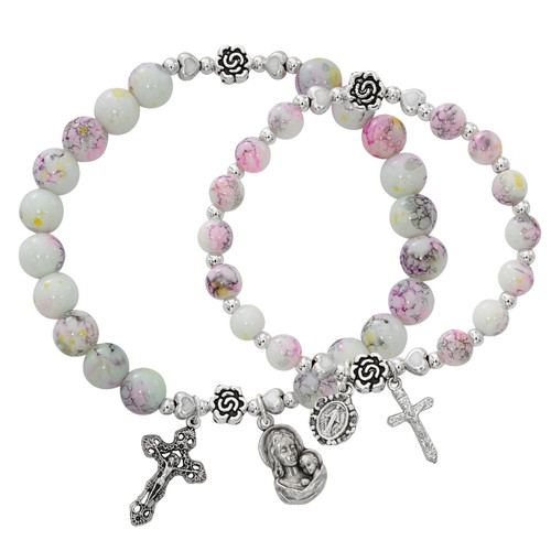 Mother and Daughter Matching Rosary Bracelets