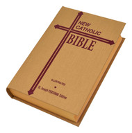 An ideal addition to the line of St. Joseph New Catholic Bible (NCB) offerings, the Personal Size Edition provides this fresh, faithful, and reader-friendly Bible translation in a convenient size. An important quality of its extensive and insightful footnotes is their distinctly pastoral tone.  This Personal Size Edition, intended for use by Catholics during daily prayer and meditation, as well as in private and group study, has a 5½ x 8⅛ format. It is available in three sacramental offerings (First Communion, Confirmation, and Marriage) as well as in a wide variety of colors, bindings, and price points.  Words of Christ in Red Learning about Your Bible Section 30 Self-Explaining Maps in Context The Bible and Catholic Life Over 100 Photographs, Illustrations, Charts, and Maps of the Holy Land Doctrinal Bible Index Bible Dictionary The Sunday Gospel