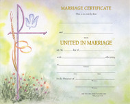 """Watercolor Marriage Certificates.  50 - 8"""" x 10"""" Watercolor marriage certificates per box.  Pre Printed or Create Your Own Style Blank Certificate."""