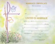 "PRE PRINTED-Watercolor Marriage Certificates.  50 - 8"" x 10"" Watercolor marriage certificates per box."
