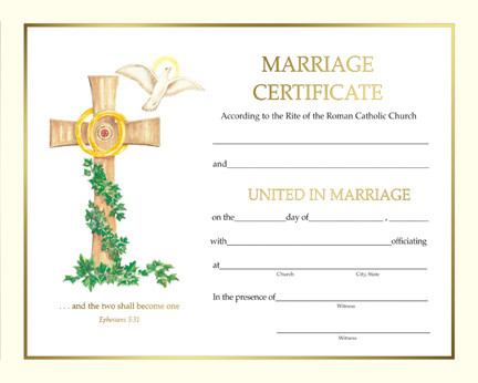 """Pre Printed Marriage Certificates.  50 - 8"""" x 10""""  marriage certificates per box.  Pre Printed or Create Your Own Style Blank Certificate."""