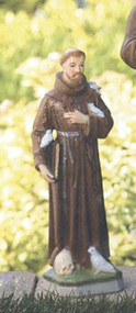"""18"""" Handcrafted Saint Francis with Birds Cement Garden Statue.  Heights: 18"""" and 26"""". Statues vary slightly in design with the different sizes. See individual pictures for specific information. These beautifully detailed hand painted statues are handcrafted and take anywhere from 4-6 weeks for delivery."""