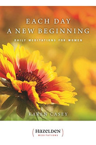 Daily Meditations for Women  These meditations, one for each day of the year, speak to the common experience, shared struggles, and unique strengths of a woman, especially those seeking support and spiritual growth in recovery.  Each day's message begins with a quotation--from such exceptional women as Agatha Christie, Annie Dillard, Beverly Sills, Helen Keller, Maria Montessori, Adrienne Rich, Katherine Hepurn, Amelia Earhart, and many more--and ends with an affirmation, marshaling the feminine courage and spirit, wisdom and wit that make every day count.