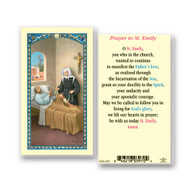 Clear, laminated Italian holy card with gold accents.  Features World Famous Fratelli-Bonella Artwork. 2.5'' x 4.5''