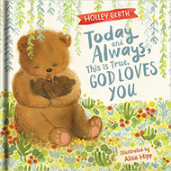 Bestselling and beloved author Holley Gerth helps children remember what God says is true about his unfailing love for us through this delightful, cuddly lift-the-flap book. Young children will be engaged and have fun with beautiful illustrations by Alisa Hipp and easy-to-read rhymes as they discover God loves them, cares for them, delights in them, and that they are a treasured gift. They'll go on an adventure with big bear and baby bear while they play a hide-and seek game through lifting the flaps, all the while learning how much God truly loves every little detail about His children even down to their ears, nose, and toes. These comforting truths are perfect to share with little hearts during bedtime or naptime snuggles. 16 pages. Dimensions: 7.2 x 0.9 x 7.1 inches