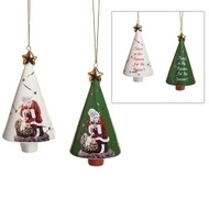 """4""""H Porcelain Kneeling Santa Bell.  Kneeling Santa Bell comes in two colors: White or Green.  Dimensions: 4.25""""H x 2.5""""W x 2.5""""L. """"Jesus is the Reason for the Season!"""" is written on the back of the bell."""