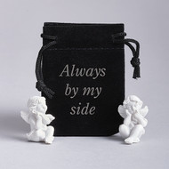 """1.25"""" Guardian Angel in a Pouch. Pouch says """"Always by My Side"""" Please note: ONE ANGEL PER POUCH!"""