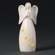 "6.25"" LED Porcelain Praying Angel. Praying Angel measures 6.25""H x 2.5""L. LED Praying Angel comes with 2 LR44 Batteries."