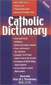 Easy-to-use pronunciation guide and complete history of Catholic terminology in a handy pocket size. Has more than 3,000 entries with concise definitions. Includes specialized terms and foreign phrases. 800 pages ~ 4.2 x 1.7 x 7