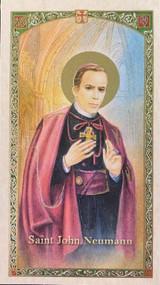 Paper Holy Card of St. John Neumann.