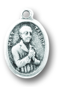 Matt Talbot Silver Oxidized Medal. Patron of Alcoholism