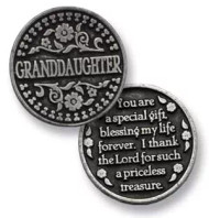"""1""""D Pocket Tokens are made of genuine pewter with a design on both the front and back"""
