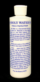 8oz Holy Water Bottle with St Michael Prayer.