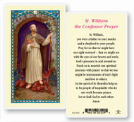 St William the Confessor Prayer, Laminated Holy Card. Clear, laminated Italian holy card with Gold Accents. Features World Famous Fratelli-Bonella Artwork. 2.5'' x 4.5''.