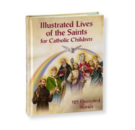 """Illlustrated Lives of the Saints for Catholic Children will inspire Catholic children.  Biographical stories of 125 saints, along with beautiful artwork from the famed Fratelli Bonella art collection fill the 253 pages of this hardcover book.   Illustrated Lives of the Saints for Catholic Children Book Details:  Author: Daniel A. Lord  253 Pages  8-1/4"""" x 6-1/4"""" x 3/4"""""""
