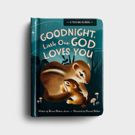 """Goodnight Little One, God Loves You - A Tuck-Me-In Book by Bonnie Jensen - Perfect for read-aloud time, Goodnight Little One, God Loves You board book offers 12 beautifully illustrated stories of God's creatures going to bed. With fun rhymes, this book promises to make bedtime reading a delightful learning and faith-building experience for kids three and up.  Size: 4 5/8"""" x 6 1/4"""" x 1 5/8""""  ~ Pages: 24"""
