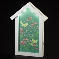 """LED Bless This House Plaque. Plaque stands 11""""H. Made of medium density fiberboard. Battery Operated. Needs 2AA batteries not included."""