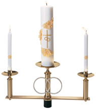 Wedding Candlabra Top section only, as shown with 1-15⁄16˝ delrin plug, 7⁄8˝ sockets. Side candles removable for lighting. Candles not included.