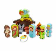 Nativity Block Set. 9 piece colorful nativity scene.