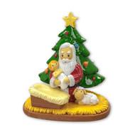 Praying Santa with Christmas Tree, 251038
