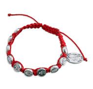 St Roch Red Bracelet. Bracelet comes carded.