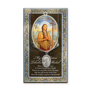 """Patron Saint of the Ecology. 3"""" X 5"""" vinyl folder with removable oxidized medal.  1.125"""" Genuine Pewter Saint Medal on a Stainless Steel Chain. Silver Embossed Pamphlet with Patron Saint Information and Prayer Included. Biography/History of the Saint and gives the Patron's attributes, Feast Day and Appropriate Prayer. (3.25""""x 5.5"""")"""