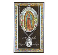 """Set includes 3"""" X 5"""" vinyl folder with removable oxidized medal.  1.125"""" Genuine Pewter Saint Medal won a Stainless Steel Chain. Silver Embossed Pamphlet with Patron Saint Information and Prayer Included. Biography/History of the Saint and gives the Patron's attributes, Feast Day and Appropriate Prayer. (3.25""""x 5.5"""")"""