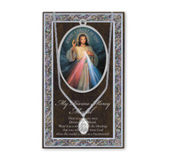"""Set includes 3"""" X 5"""" vinyl folder with removable oxidized medal.  1.125"""" Genuine Pewter Saint Medal won a Stainless Steel Chain. Silver Embossed Pamphlet with the devotion Information and Prayer Included. Biography/History of the devotion and gives  Feast Day and Appropriate Prayer. (3.25""""x 5.5"""")"""