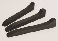 """Set of three ~ 6-1/2"""" long. Made of wood with black paint"""