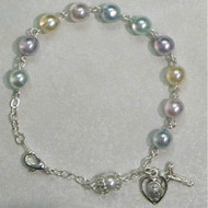 Rosary Bracelet - Multicolor Pearl