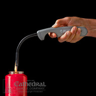 Easy to use disposable lighter. Features an flexible wand head specifically designed to easily reach down into the votive container. Eliminates potential problems caused by matches or broken lighting sticks. Retractable hook for easy storage.