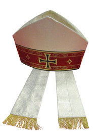 Lame' Oro Material. 40% Polyester, 35% Wool, 25% Gold Thread. Banding on the Front and Back. Also Available: Matching Chasuble, Stole, Dalmatic, Deacon Stole, Humeral Veil and Cope. These items are imported from Europe. Please supply your Institution's Federal ID # as to avoid an import tax. Please allow 3-4 weeks for delivery if item is not in stock