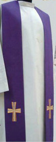 Primavera (100% Polyester). Available in White, Red, Green and Purple. Also Available: Matching Chasuble, Dalmatic and Deacon Stole. These items are imported from Europe. Please supply your Intitution's Federal ID # as to avoid an import tax. Please allow 3-4 weeks for delivery if item is not in stock