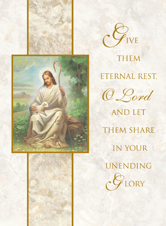Eternal Rest, Deceased Mass Cards 100 Ct. For Church Use Only - St ...