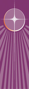 """Advent Star  Banner ~ creates a warm atmosphere, inspiring peace, quiet and prayer  In Raytex DM, 100% man-made  Large Size: 9-7/8 X 3-1/4 feet  Small Size: 48"""" x 24""""  Finished at top with open hem; with wooden rod, two wooden apples and hanging cord Metal dowel at bottom incorporated into hem. These items are imported from Europe. Please supply your Institution's Federal ID # as to avoid an import tax.  Please allow 3-4 weeks for delivery if item is not in stock."""