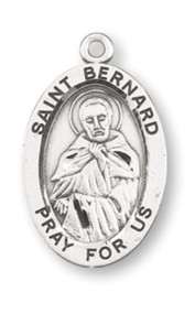 "Patron Saint of Mountain Climbers ~ Sterling silver, 7/8"" oval medal with a 20"" genuine rhodium plated chain. Medal comes in a deluxe velour gift box. Engraving option available."