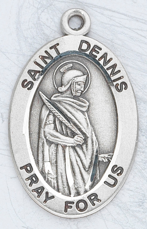 """Patron Saint of Headaches, Rabies & Possessed People ~ Sterling silver 7/8"""" oval medal with a 20"""" genuine rhodium plated chain. Medal comes in a deluxe velour gift box. Engraving option available."""