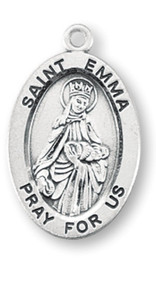 "Patron Saint of lost families - Sterling silver oval medal with a 18"" genuine rhodium plated curb chain. Dimensions: 0.9"" x 0.6"" (22mm x 14mm). Weight of medal: 1.9 Grams. Medal comes in a deluxe velour gift box. Engraving option available. Made in the USA"