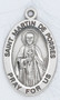 """Sterling silver 7/8"""" oval medal with a 20"""" genuine rhodium plated chain.  Comes in a deluxe velour gift box. Engraving option available.  Patron Saint of African-Americans,  Inter-Racial Justice, Public Education, Race Relations, Racial Harmony, Social Justice"""