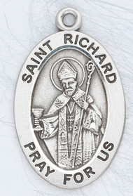 "Patron Saint of Drivers, Delivery Workers. ~ 7/8"" sterling silver oval medal with an 20"" genuine rhodium plated chain.  Comes in a deluxe velour gift box. Engraving option available."