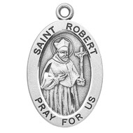 "7/8"" oval sterling silver medal with a 20"" genuine rhodium plated chain. Comes in a deluxe velour gift box. Engraving option available. Patron Saint of Catechists & Catechumens, Canon Lawyers"