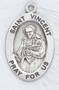 """Patron Saint of Charitable Organizations - Sterling silver  7/8"""" oval medal with a 20"""" genuine rhodium plated chain.  Comes in a deluxe velour gift box. Engraving option available."""