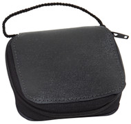 """Genuine leather, fully lined with pocket. Neck cord. Holds 4"""" x 4"""" x 1"""" pyx. Burse only"""