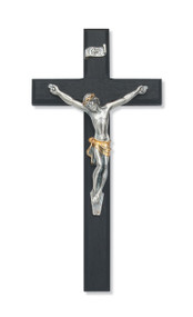 "10"" Black  Cross with Two-Toned Italian Corpus. Packaged in a deluxe gift box"